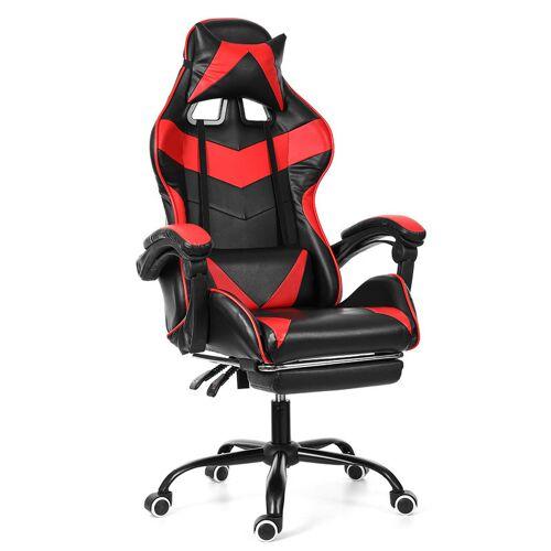 INSMA Bürostuhl Gaming Gamer Stuhl ohne Fußstütze Rot