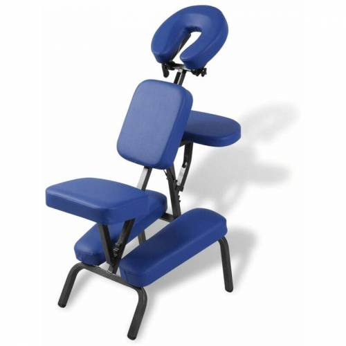 Vidaxl - Faltbarer & Tragbarer Massagestuhl Blau