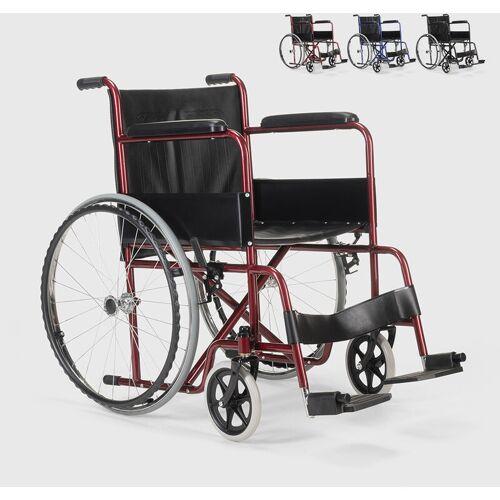 FISIOMED Rollstuhl Kunstleder Klapp Orthopädischer Rollstuhl Behinderte und