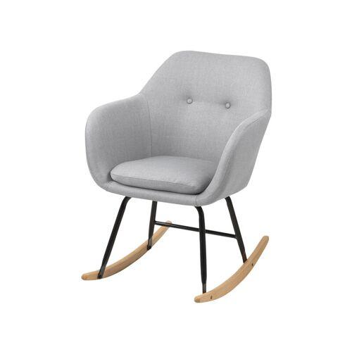 SELSEY ENISA - Schaukelsessel / Schaukelstuhl mit Sitzkissen - skandinavisch