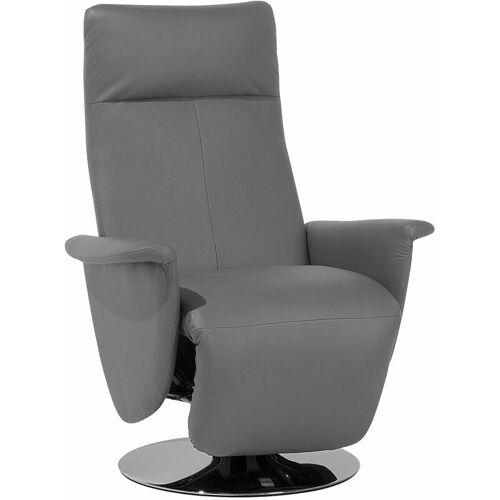 Beliani - Sessel Grau Kunstleder Metall Wohnzimmer
