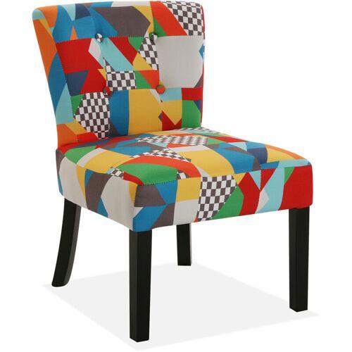 Versa Brais Bequemer gepolsterter und gepolsterter Stuhl, 73x64x50cm