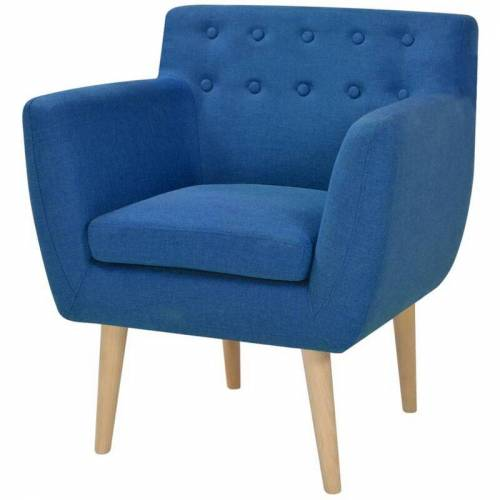 VIDAXL Sessel Stoff Blau