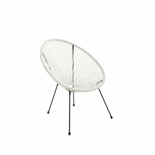 Alice's Garden - ACAPULCO eiförmiger Sessel - Weiß - 4-beiniger Sessel