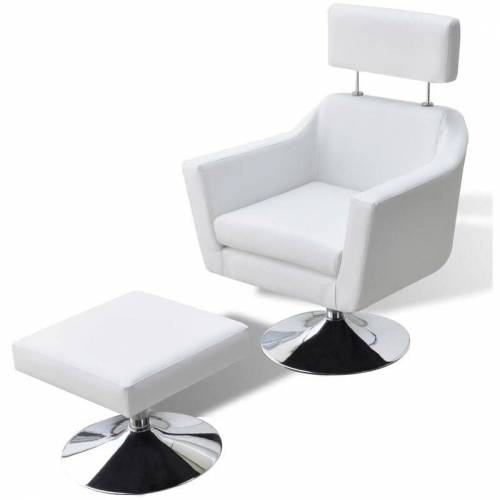 VIDAXL Fernsehsessel Weiß Kunstleder