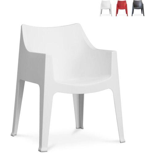 SCAB DESIGN Innen- und Außen Stuhl mit Armlehnen Scab Coccolona   Weiß