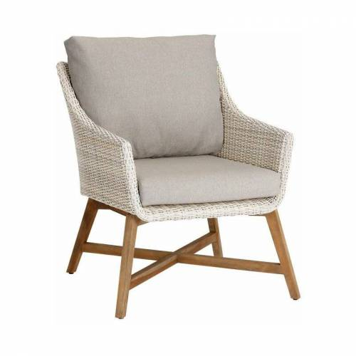 Best Lounge-Sessel 'Paterna' aus Teakholz, mit Auflage