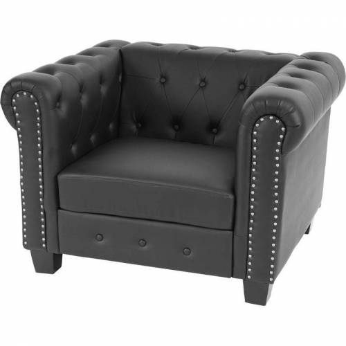 HHG Luxus Sessel Loungesessel Relaxsessel Chesterfield Edingburgh