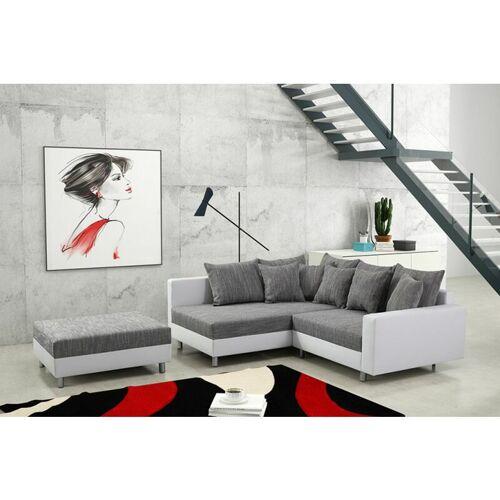 Küchen Preisbombe - Modernes Sofa Couch Ecksofa Eckcouch in weiss
