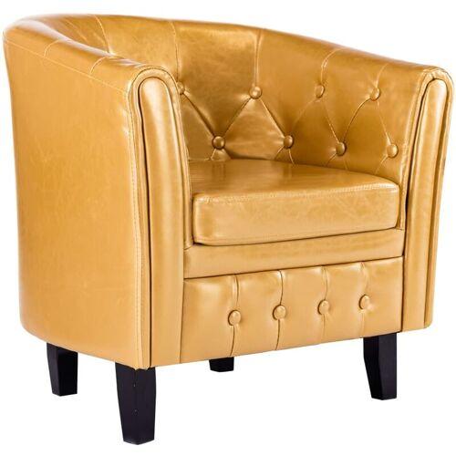 Vidaxl - Sessel Golden Kunstleder