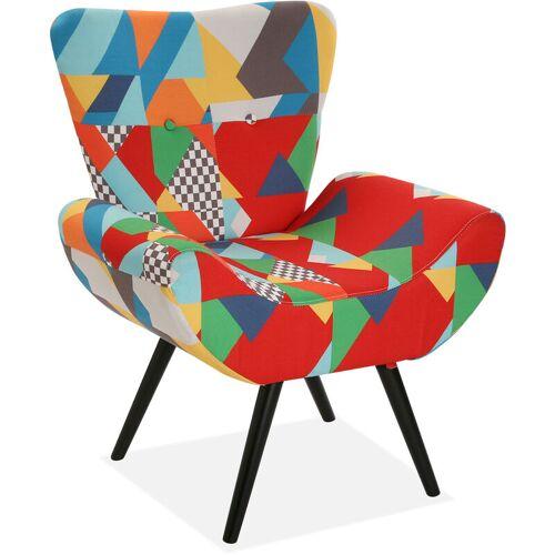 Versa Brais Sessel für Wohnzimmer, bequemer Sessel, 83x70x72cm