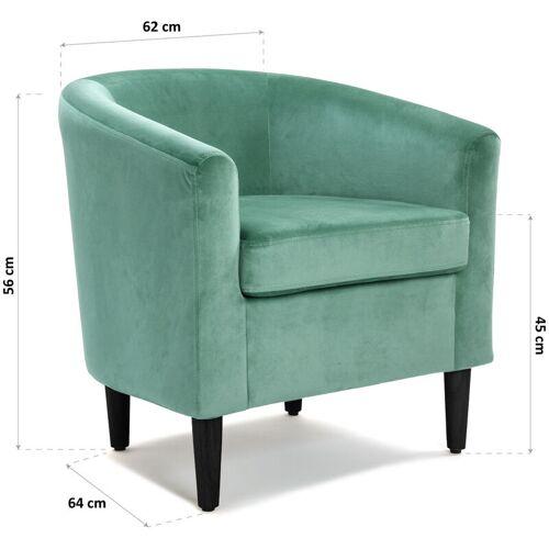 Versa Terracota Sessel für Wohnzimmer, bequemer Sessel, 62x60x62cm