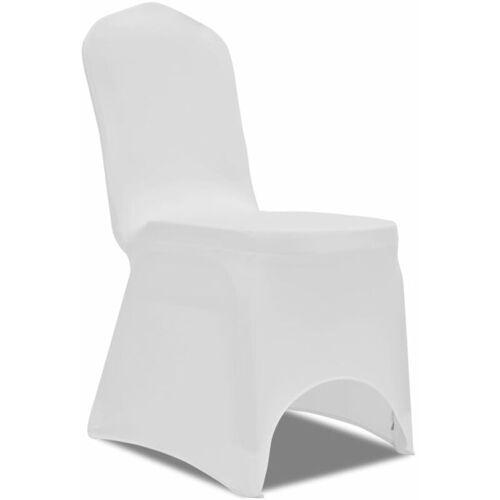 VIDAXL 50 x Stuhlhusse Stretchhusse weiß