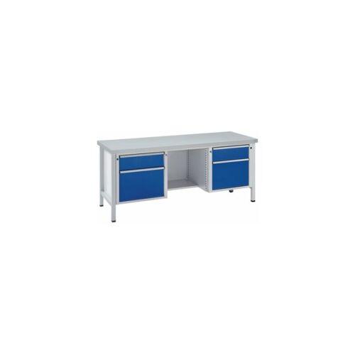 ANKE Werkbank, stabil - Schubladen 2 x 180 mm, 2 x 360 mm, ½