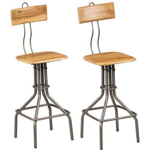 Zqyrlar - Barstühle 2 Stk. Altholz Teak