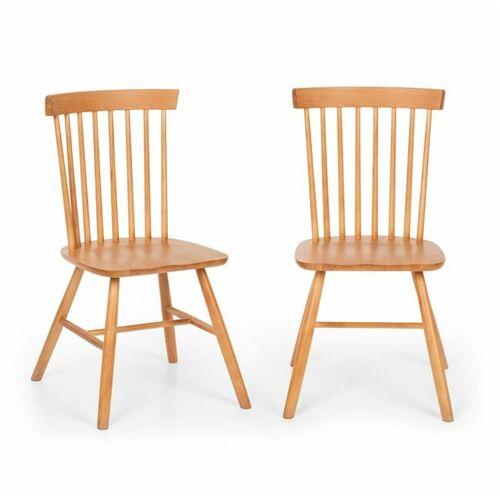 BESOA Fynn Holzstuhl-Paar Buchenholz Windsor-Design holz