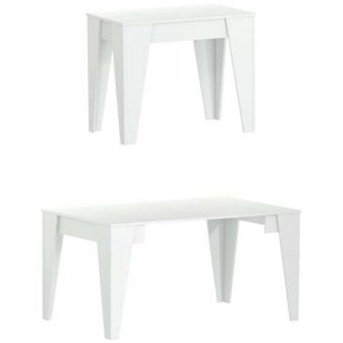 Skraut Home - Esskonsolentisch TM ausziehbar bis 146 cm, farbe weiß,