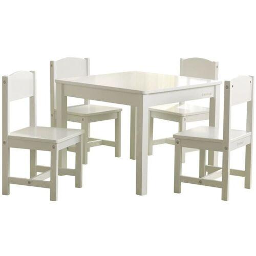 KIDKRAFT Bauernhaus-Kindertisch mit 4 Stühlen Weiß - Kidkraft