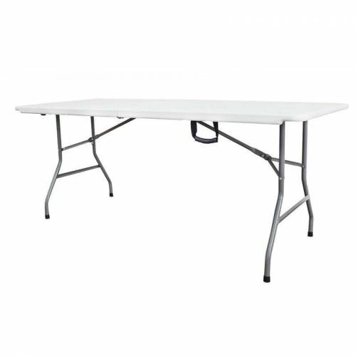 TODECO Klappbarer Tisch , Garten Klapptisch, 180 x 74 cm, Wei