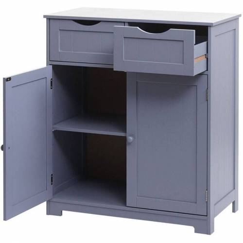 HHG Kommode HHG-596, Schubladenschrank Schrank, 2 Schubladen und 2 Türen