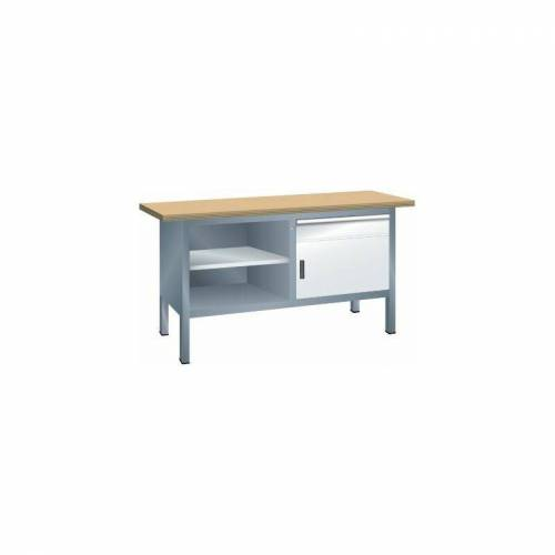 Certeo - Lista Kompaktwerkbank, Multiplexplatte - 1 Schublade, 1 Tür, 3