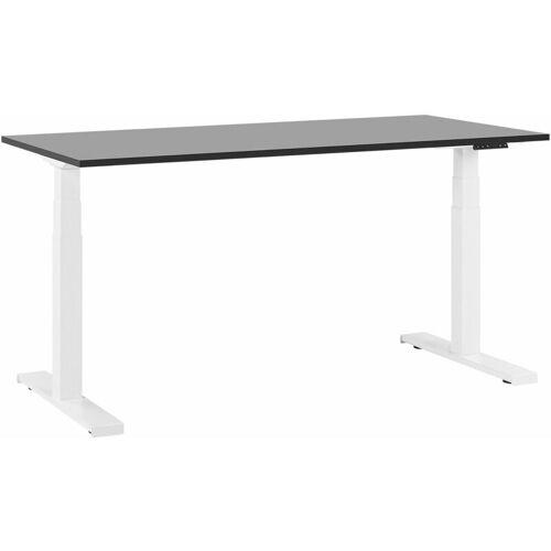 Beliani - Schreibtisch Schwarz mit Weiß 160 x 72 cm elektrisch