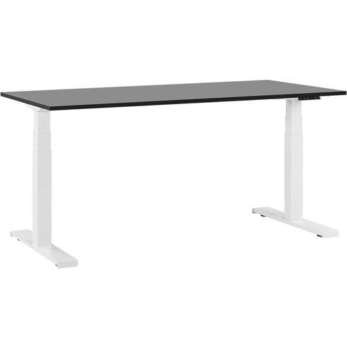 Beliani - Schreibtisch Schwarz mit Weiß 180 x 80 cm elektrisch