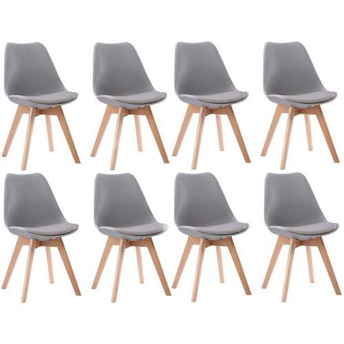 BENEFFITO SENJA - Set skandinavischer Stühle - GRAU - X8 - Grau