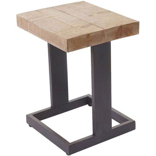 HHG Sitzhocker 801, Hocker Fußhocker Holzhocker, Tanne Holz rustikal massiv