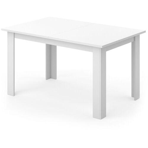 VICCO Esstisch KARLOS 140cm Weiß Esszimmertisch Wohnzimmer Küchentisch Tafel