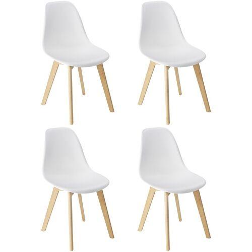 WENKO 4er Set SALA Esszimmer Stühle Holz Wohnzimmer Küchen Stuhl Massiv