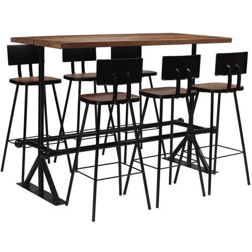 VIDAXL Bar-Set Altholz Massiv 7-tlg. - VIDAXL