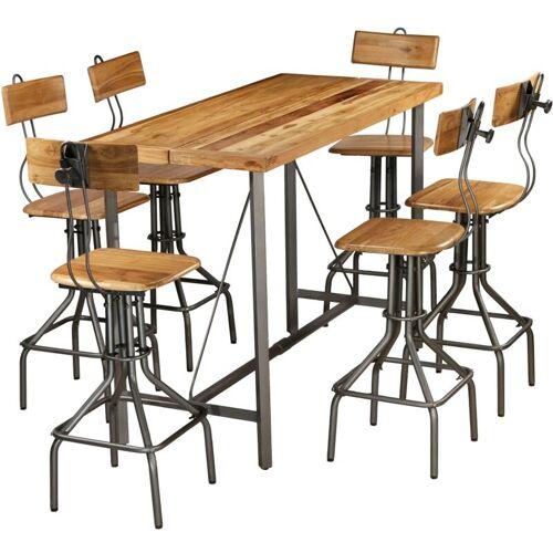 VIDAXL Bar-Set Recyceltes Massivholz Teak 7-tlg. - VIDAXL