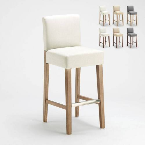 AHD AMAZING HOME DESIGN Barhocker Holzküche Henriksdal Stil Hoch 74 cm Comfort Xl   Shabby Weiß