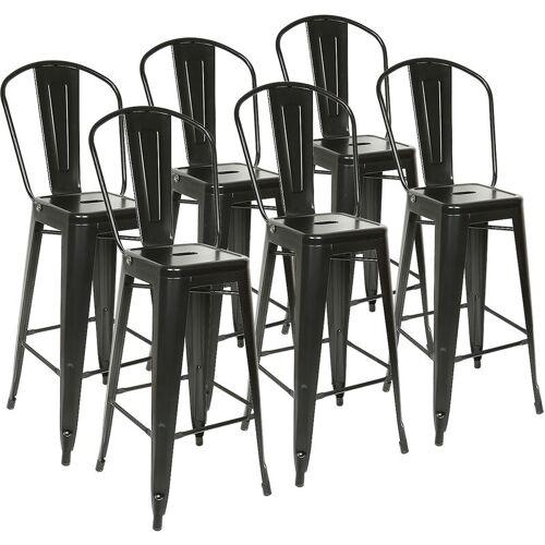 Wyctin - 6er Set Barhocker Küchenhocker Metall Tresenstuhl