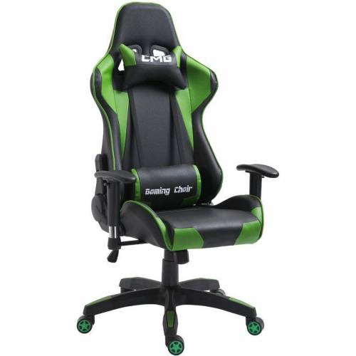 Caro-möbel - Bürodrehstuhl GAMING in schwarz/grün