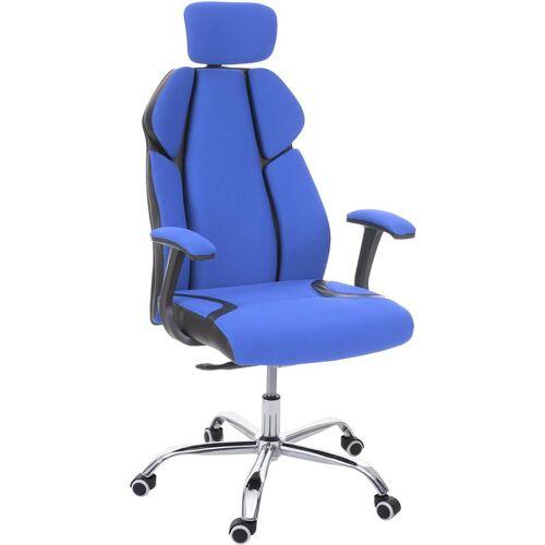 HHG Bürostuhl 182, Schreibtischstuhl Drehstuhl Racing-Chair,