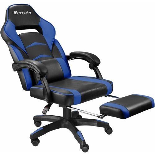 TECTAKE Racing Bürostuhl mit Fußstütze - Gaming Sessel, Zockersessel,