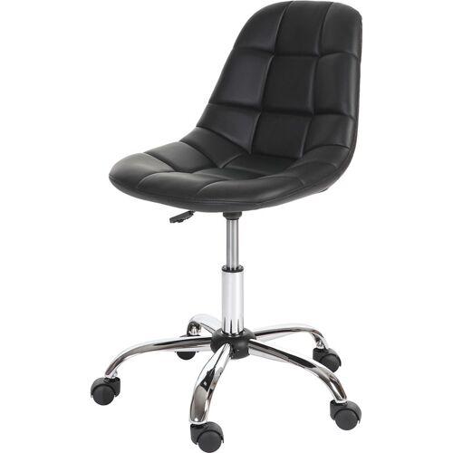 HHG Drehstuhl HHG-817, Bürostuhl Arbeitshocker, Schalensitz Kunstleder ~