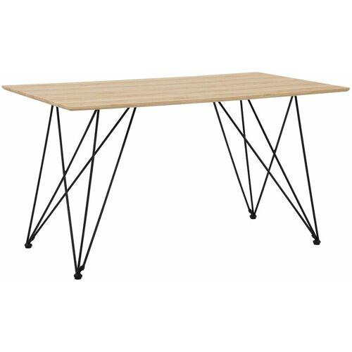 Beliani - Esstisch Braun mit Schwarz 80 x 140 cm MDF Platte Pappelholz