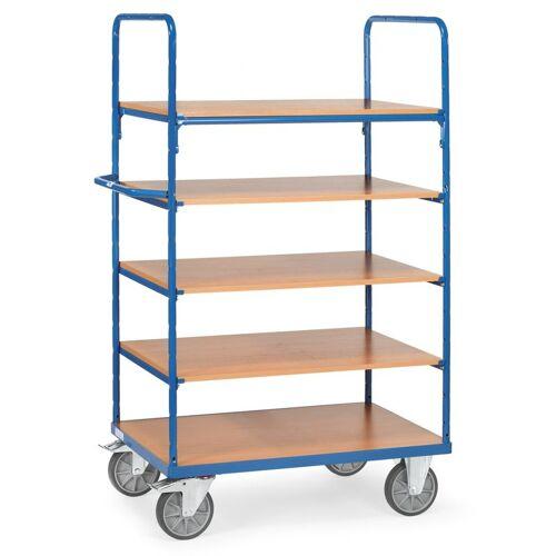 FETRA Etagenwagen mit 5 Böden aus Holz Etagenwagen mit 5 Böden aus Holz