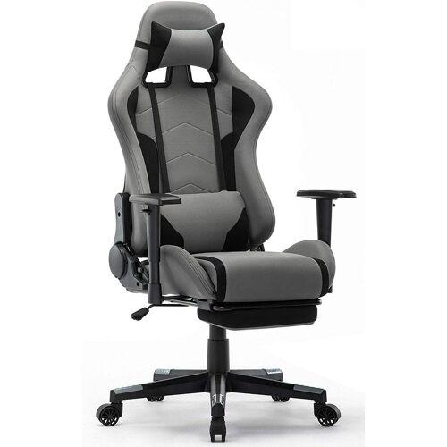 INTIMATE WM HEART Gaming Stuhl, Racing Gamer Stuhl, Bürostuhl Stoff mit Fußstütze,