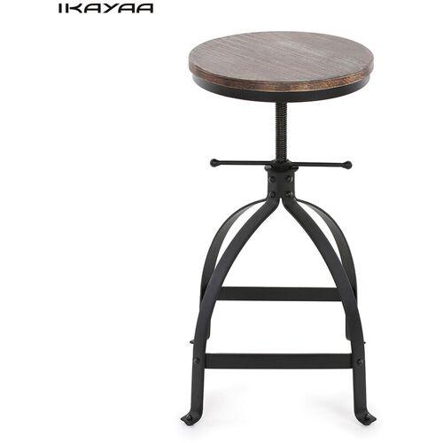 IKAYAA Hocker Holz Industrie Bar - Ikayaa
