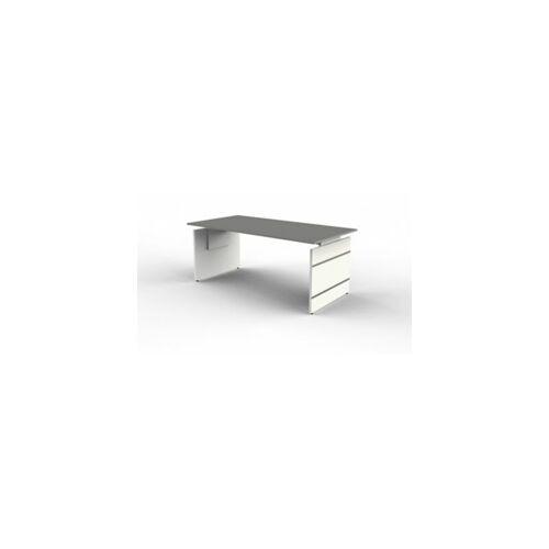 Kerkmann Form 4 Schreibtisch mit Wangen - 1800 x 900 mm,