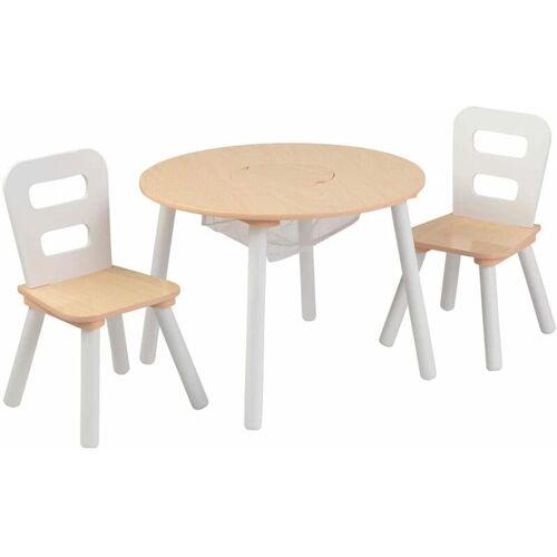 KIDKRAFT Kindertisch mit 2 Stühlen Massivholz Braun - Kidkraft