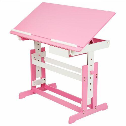 TECTAKE Kinderschreibtisch - Computertisch, Bürotisch - pink - pink - TECTAKE