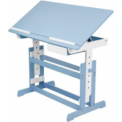 TECTAKE Kinderschreibtisch - Computertisch, Bürotisch - blau - blau - TECTAKE