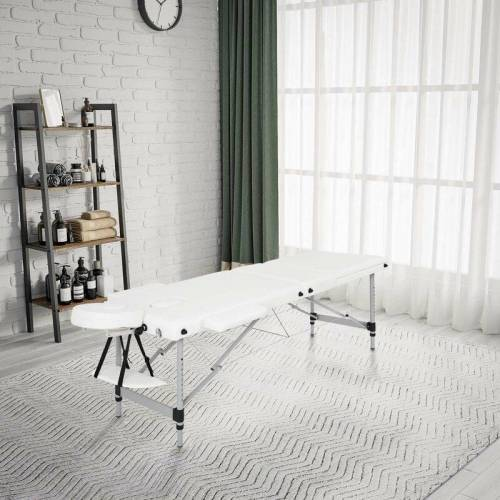 MEERVEIL mobile Massageliege, klappbare Therapieliege, tragbares Massagebett,