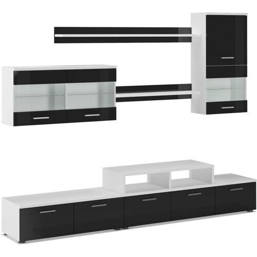 INNOVATION Möbel TV - Möbel set- Glanzlack Wohnwand, Wohnzimmer,