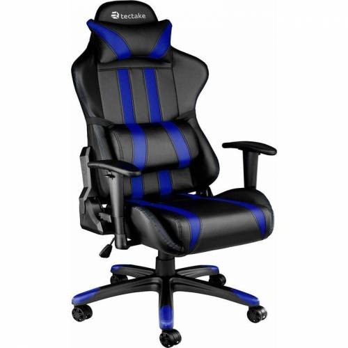 Tectake - Premium Racing Bürostuhl mit Streifen - Computerstuhl,